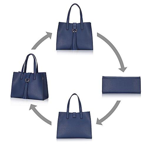 Veevan Sacs à main en Nylon Imperméable pour Femme (Bleu foncé) A-Bleu