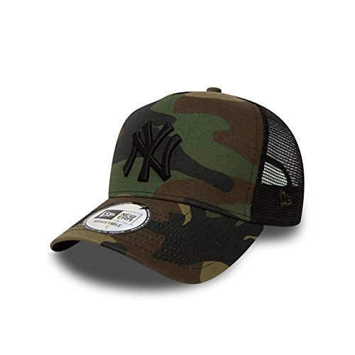 New Era Clean Trucker Adjustable Cap NY YANKEES Camouflage, Size:ONE SIZE (Hats Era New Trucker)