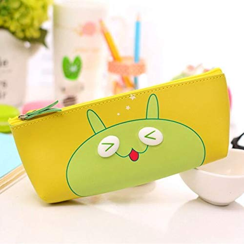 INFInxt Green Cartoon Eye Pouch Stationery and multi-purpose Cases (1 Piece)