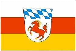 U24 Aufkleber Landkreis Erding Flagge Fahne 8 x 5 cm Autoaufkleber Sticker