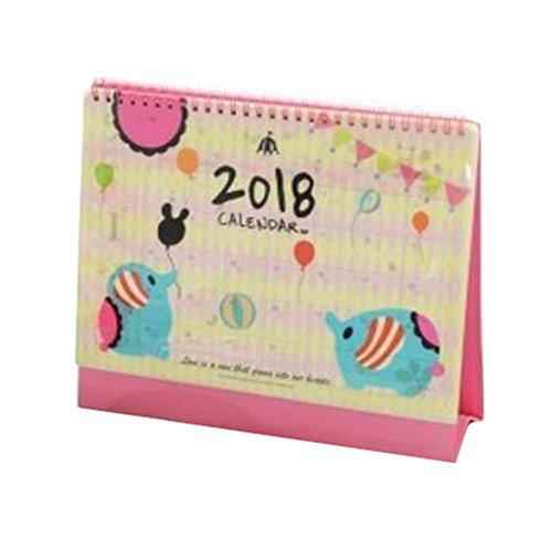 2018 Calendario de Estudiantes Cuaderno / Mensual, Semanal, Diario, Objetivos-Elefante