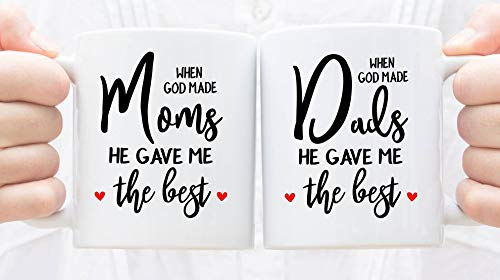 D&Y Best Anniversary Gift Printed Coffee Mugs for Your Mother, for Your Father, for Your Mother-in-Law, for Your Father-in-Law on Anniversary, AnySpecial Day