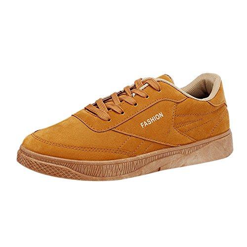 ODRD [EU36-EU49] Schuhe Herren Männer Herbst-beiläufige Reise-Schuhe der Männer, die Schnürsport-Sportschuhe Laufen Combat Hallenschuhe Worker Laufschuhe Wanderschuhe Sneakers Sport
