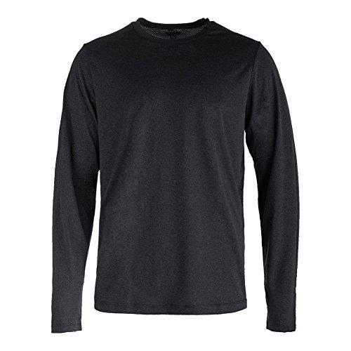 Fila Mens Fundamentals Long Sleeve Polyester Shirt Black Heather