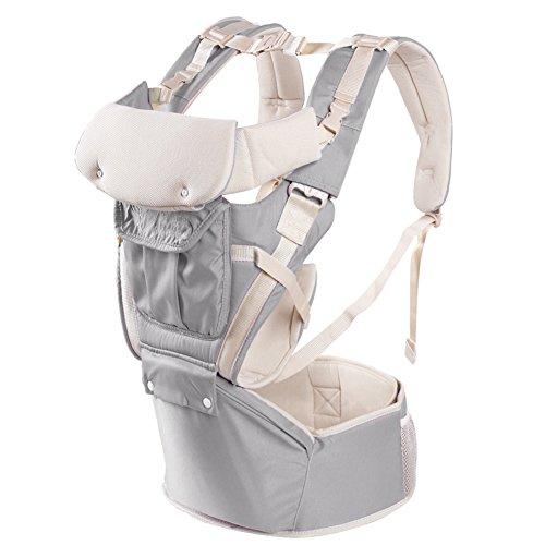 Portabebés delantero y trasero ajustables 4 posiciones de mochila mochila suave estructurado ergonómico para recién nacidos, bebés y niños pequeños Por GOMNEAR