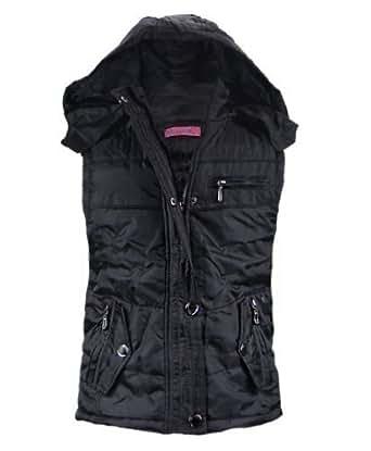 Girls Faux Fur Lined Bodywarmer in Black 3-4 Years