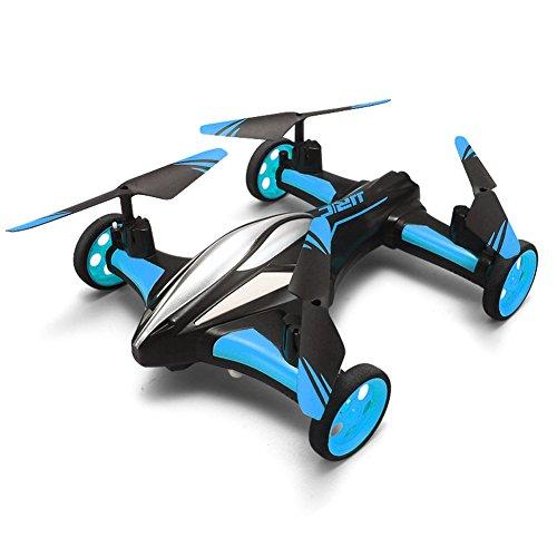 GEEDIAR® Auto Geformtes Mini Quadcopter Drone 2.4G 6 Kanäle Ferngesteuerte Spielzeug mit 360 ° Umstülpung für Fliegen und Fahren