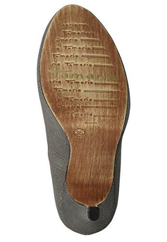 Tamaris piattaforma pompa in rilievo di pelle di serpente finto ottica 1-22437-33 237 grigio Grau