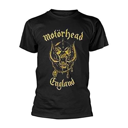 Collectors Mine England Classic Gold Camiseta, Negro, L Hombre