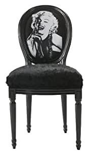 Chaise louis noir Marilyn