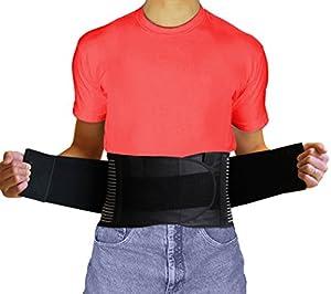 AidBrace Back Brace Support Belt - Helps Relieve Lower Back Pain, Sciatica, Scoliosis, Herniated Disc or Degenerative Disc Disease