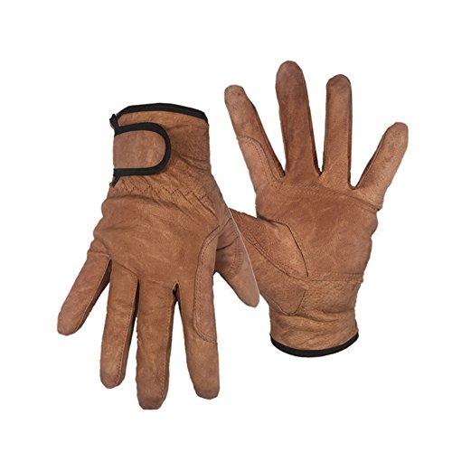 Bai You Mei Arbeitshandschuhe Montagehandschuhe aus Leder für Schweißarbeiten Hitzeschutzhandschuhe Hitzebeständig Arbeitshandschuhe zum Schutz - Mechaniker-Handschuhe zum Arbeiten an Autos und Lastwagen (1 Paar)