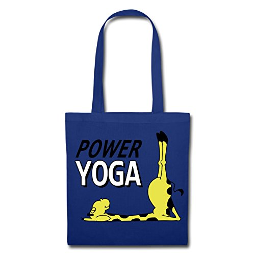 Spreadshirt Power Yoga Giraffa Porta Candele In Tessuto Blu Royal