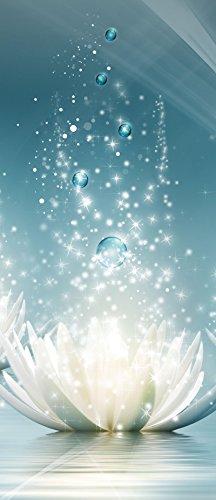 VLIESFOTOTAPETE PANEL Tür Türfototapeten Tapete Vlies | Welt-der-Träume| Magische Lilien | VET (211 cm. x 91cm.) | Door Mural Photo Sticker 3566VET-AW | Natur Blumen Pflanzen Lillie Wasser Wasserlilie (Wasser-lilie)