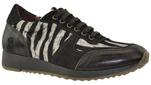 JJ Footwear, Stivali donna Marrone (Espresso Potter/Suede/PotroAfrica Animals)