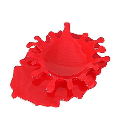 Creative Solid Color Splash Drop Suppenkelle Rack Holder Kitchen Accessories Collectsound Einheitsgröße rot