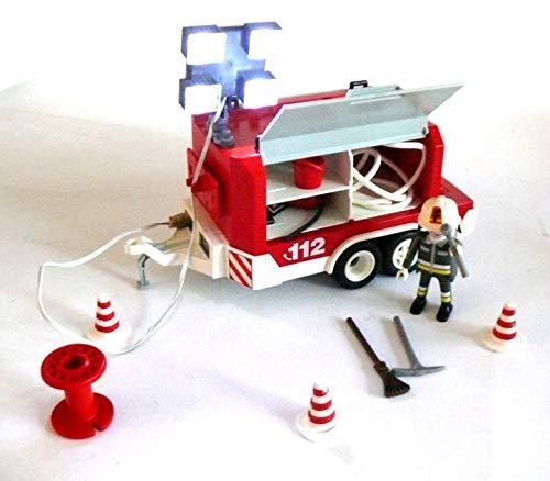 Preisvergleich Produktbild playmobil ® - 7485 - City Action - 7485 - Feuerwehr-Anhänger - mit Beleuchtung und Batterie - 4 Scheinwerfer