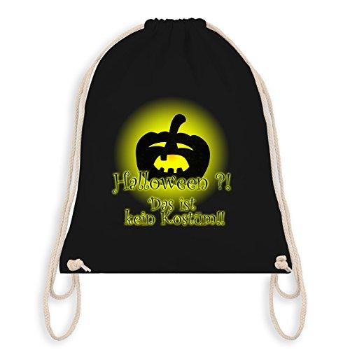 Halloween - Kein Halloweenkostüm - Turnbeutel I Gym Bag Schwarz