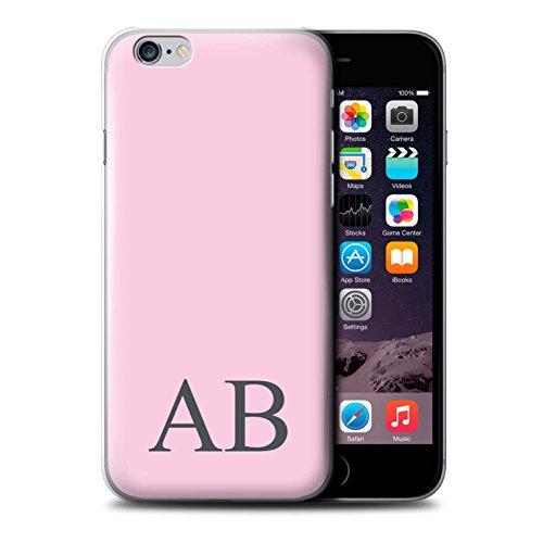 Personalisiert Pastell Monogramm Hülle für Apple iPhone 6 / Korallen Design / Initiale/Name/Text Schutzhülle/Case/Etui Rosa