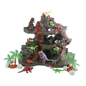 Animal Era – Volcano Rack with Dinosaurs – Le Volcan des Dinosaures – Mini-Figurines + Décor
