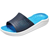 Crocs LiteRide, Unisex Adult's Slides, White (Navy/White 462), 46/47 EU