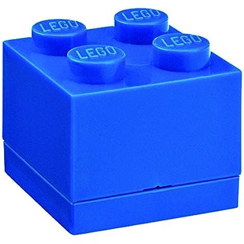 LEGO - Mini caja de almuerzo 4, color azul (Room Copenhagen A/S 40111731)