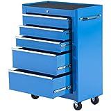 Carro de Herramientas Taller Movil con 5 Cajones Ruedas 2 Colores (Azul)