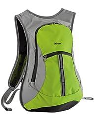 Trust Urban Zanus - Mochila deportiva ultraligera reflectante, compartimentos estancos, verde lima