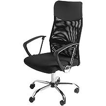 BTM–Sedia direzionale con schienale alto Multicolor regolabile sedia da ufficio, girevole, reclinabile, seduta in rete (vino) BLACK1