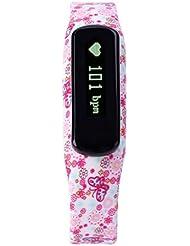 iMusi Heart Rate Monitor Watch - Rosa Schmetterlinge und Blumen
