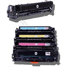 1 juego de 8 tóneres (2 negros, 1 cian, 1 magenta y 1 amarillo) compatibles con HP Color LaserJet (CE320A , CE 320A , CE321A , CE 321A , CE322A CE 322A , CE323A , CE 323A 128A) HP CLJ CP1525, CP-1525N/NW , CM1415, CM-1415FN/FNW , CM1415, CM-1415MFP