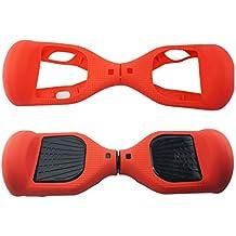 Funda de protección de silicona para monopatín eléctrico de 6,5 pulgadas, rojo