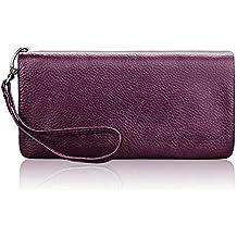 122b9d29f0 JTSYHle donne sono un portafoglio di pelle doppia cerniera portafoglio,  borsa