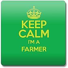 Verde Keep Calm I 'm un granjero posavasos Color 3275