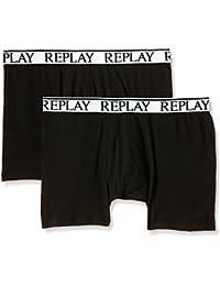 Replay Herren Boxer Shorts, 2er Pack, TM606 .000.N001