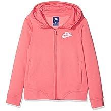 Nike G NSW HOODIE FZ CLUB Sudadera, Niñas, Rosa (Sea Coral/White