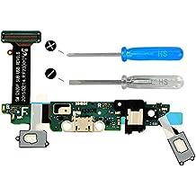 MMOBIEL Conector Dock cargador para Samsung Galaxy S6 G920F de repuesto. Puerto micro USB Cable Flex con adhesivo. Incluye dos destornilladores y adhesivos para una fácil instalación