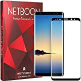 NETBOON 3D Tempered Glass Screen Protector 9H Hardness Gorilla Glass Guard for Samsung Note 9 (Black)
