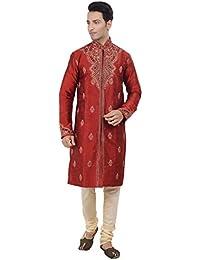 Ethnic Indian Designer Off-White Kurta Sherwani for Men 2pc Suits