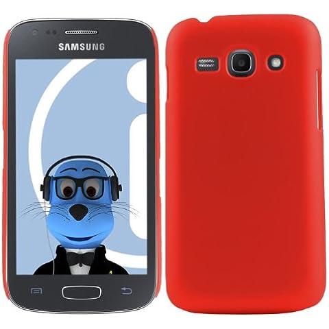 iTALKonline Samsung Galaxy Ace 3 GT-S7275 ROSSO Difficile Saluto dura della cassa della pelle Soft Grip Slim