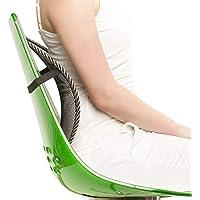 Donnerberg Support Lombaire Original - Soulage Les douleurs lombaires - Haute qualité Allemande - Améliore la Posture – Adaptable à Chaque Chaise - Idéal pour Bureau, Maison, Voiture (1 pièce)