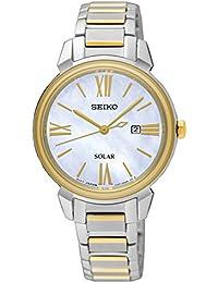 Seiko Reloj Analogico para Mujer de Energía Solar con Correa en Acero  Inoxidable SUT324P1 f33f527668e1
