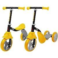 SWAGTRON K2 - Patinete de 3 ruedas para niños y niñas de 2 en 1, ajustable, para 2, 3, 4, 5 años de edad, niños o niñas en cuestión de segundos