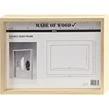 Marco doble cara, A4, medidas 22,1x30,8 cm, profundidad 4,5 cm, pino, 1ud, medida interior 20,1x28,8 cm