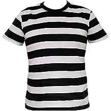 Rock Star Academy en Blanco y Negro n diseño a Rayas T-Camiseta de Manga