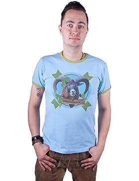 Almwerk Herren Tracht T-Shirt Sündenbock