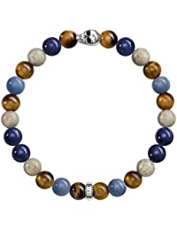 Thomas Sabo Damen-Armband 925 Silber Bambus Tigerauge braun Ovalschliff 20 cm - A1532-926-7-L20