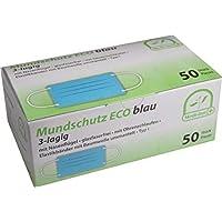 Mundschutz Eco 3-lagig mit Nasenbügel glasfaserfrei mit Ohrenschlaufen TYP I 50 Stück von Medi-Inn Farbe:blau preisvergleich bei billige-tabletten.eu