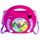 Lexibook RCDK100DP CD Player with 2 Mics Disney Princess