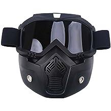 possbay viento Polvo Protección Gafas de Deportes de Invierno Dirt Bike Off Road Racing–Gafas protectoras con máscara, gris